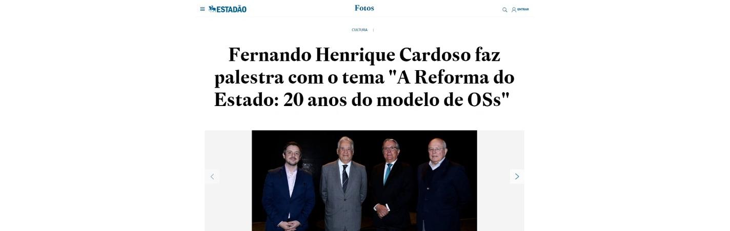 Evento sobre 20 anos do modelo de OS é destaque no jornal Estadão