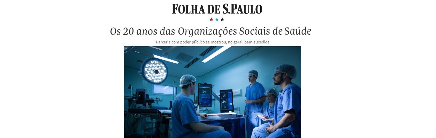 Folha de S. Paulo destaca 20 anos do modelo de OSS