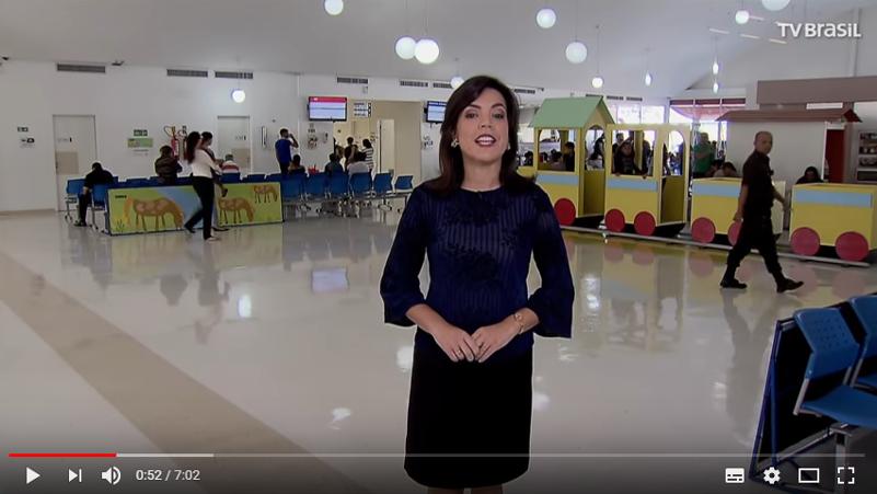 Humanização no Hospital da Criança de Brasília é destaque de reportagem da TV Brasil