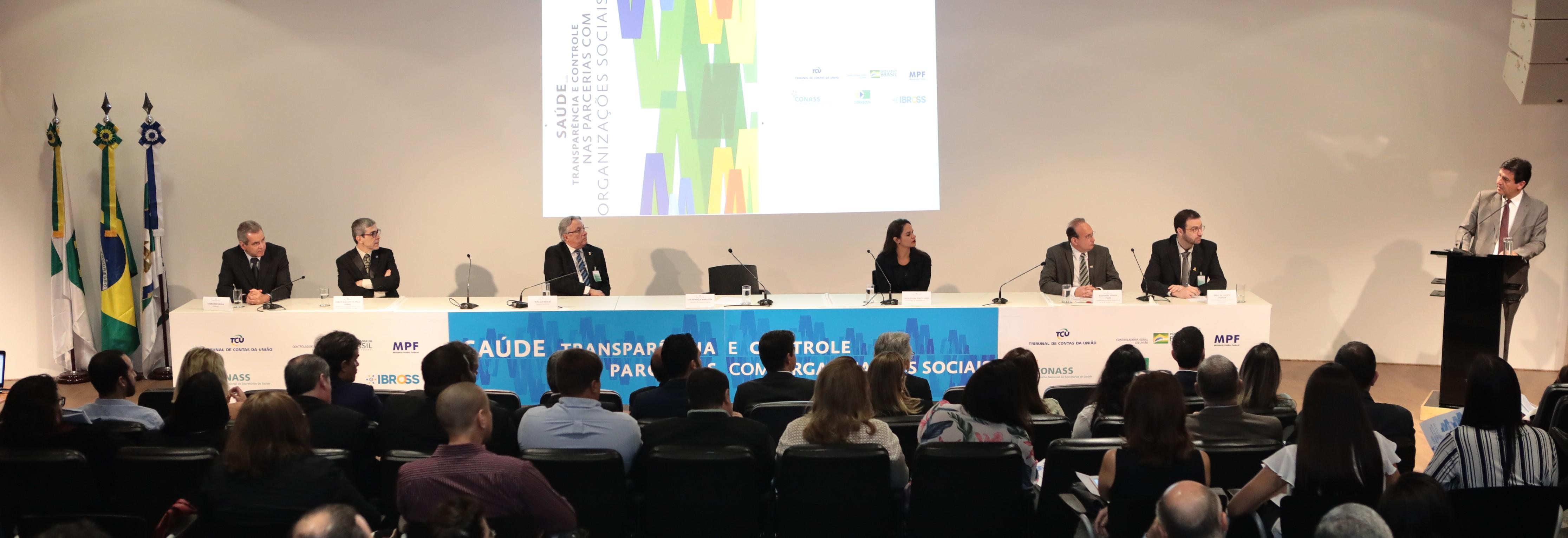 Seminário discute transparência e controle nas parcerias com Organizações Sociais