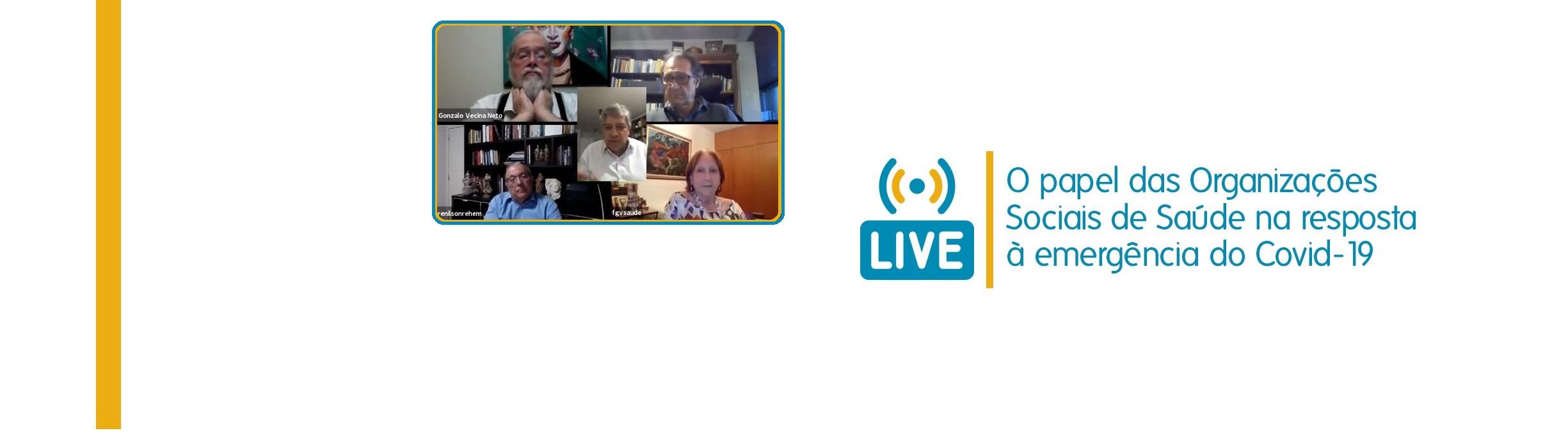 COVID-19: live debateu parcerias entre setor público e sociedade civil. Assista!