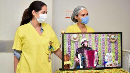 Arraiá Solidário virtual emociona pacientes no Hugol