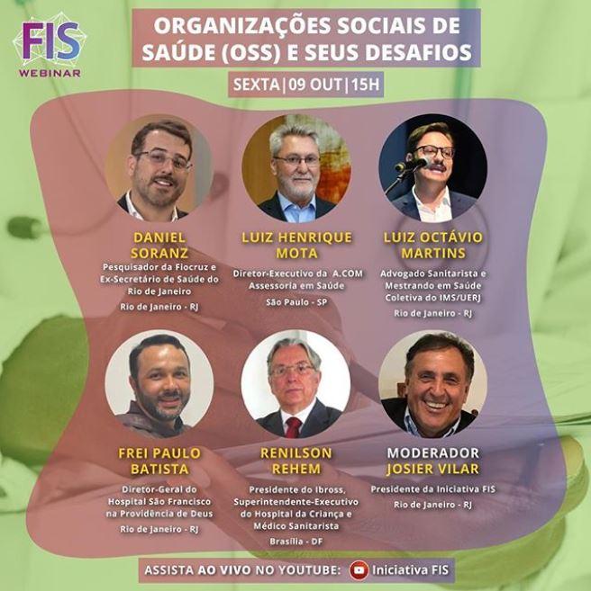 #FISWEBNAR: Organizações Sociais de Saúde (OSS) e seus desafios. ASSISTA AQUI!