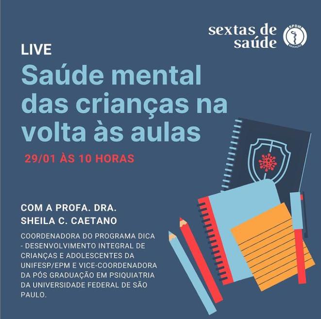 Live: saúde mental das crianças na volta às aulas