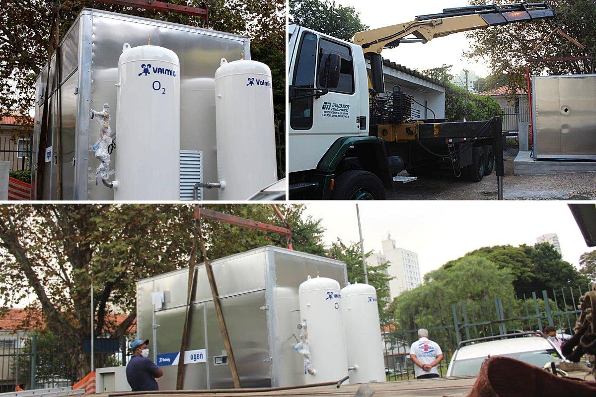 Nova miniusina de oxigênio é instalada no Hospital Dia Flávio Gianotti em SP
