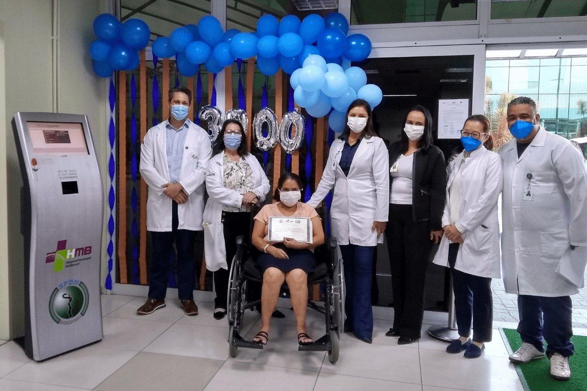 HMB celebra a marca de 3 mil altas de pacientes internados com Covid-19